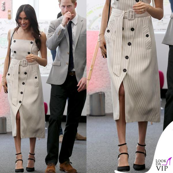 Principe Harry Meghan Markle abito Altuzarra giacca Camilla and Marc scarpe Tamara Mellon borsa Orton 6