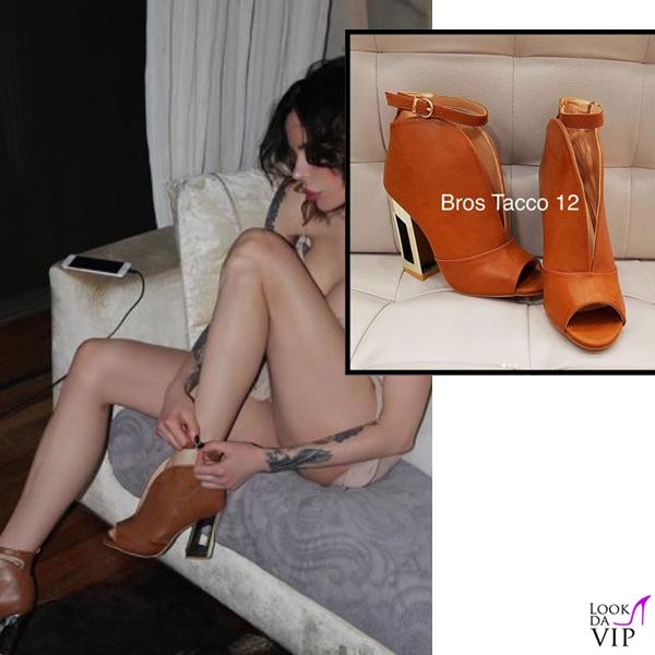 Nina Moric scarpe Bros Tacco 12