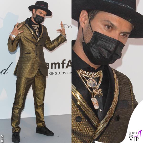 Alec Monopoly Cannes 2018 party AmFar completo Philipp Plein