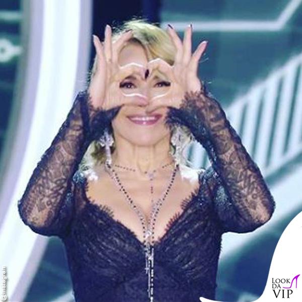 Barbara d'Urso Grande Fratello quarta puntata abito Ermanno Scervino