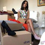 Caterina Balivo asta eBay scarpe Dolce&Gabbana abito Jack T.