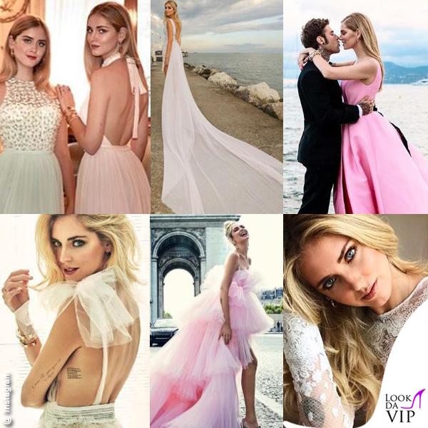 Chiara Ferragni vestito da sposa Cannes Fedez