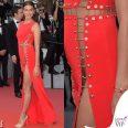 Irina Shayk Cannes abito Versace