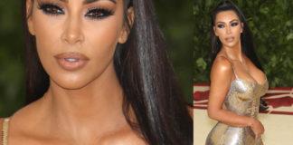 Kim Kardashian Met Ball 2018 abitio Versace