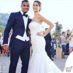 Matrimonio Melissa Satta Kevin Prince Boateng abito Atelier Emé fedi Damiani