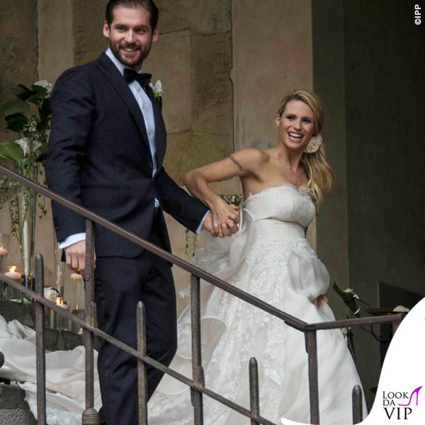 Matrimonio Tomaso Trussardi abito Trussardi Michelle Hunziker abito Antonio Riva