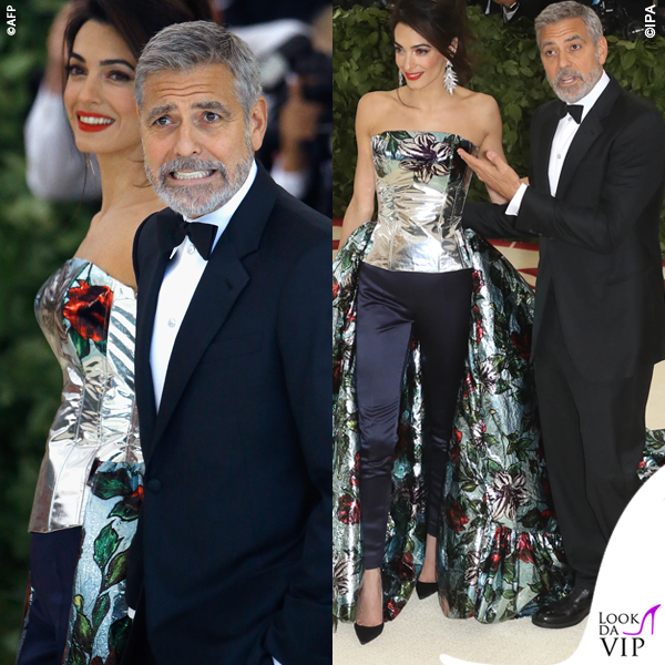 Met 2018 Amal Alamuddin in Atelier Versace George Clooney