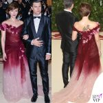Met 2018 Scarlett Johansson abito Marchesa Colin Jost 2