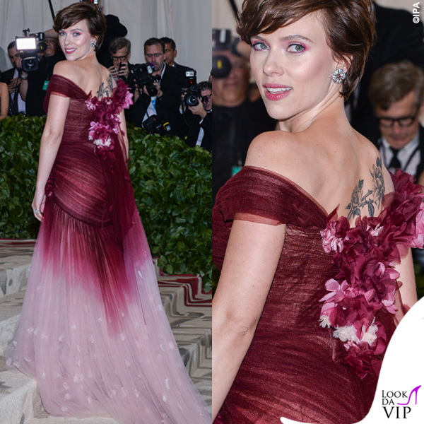 Met 2018 Scarlett Johansson abito Marchesa