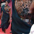 Naomi Campbell Cannes 2018 abito scarpe Poiret