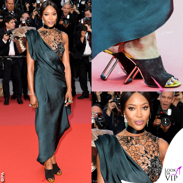 Naomi Campbell Cannes 2018 total look Poiret