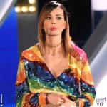 Nina Moric Grande Fratello sesta puntata minidress Attico scarpe Giuseppe Zanotti design