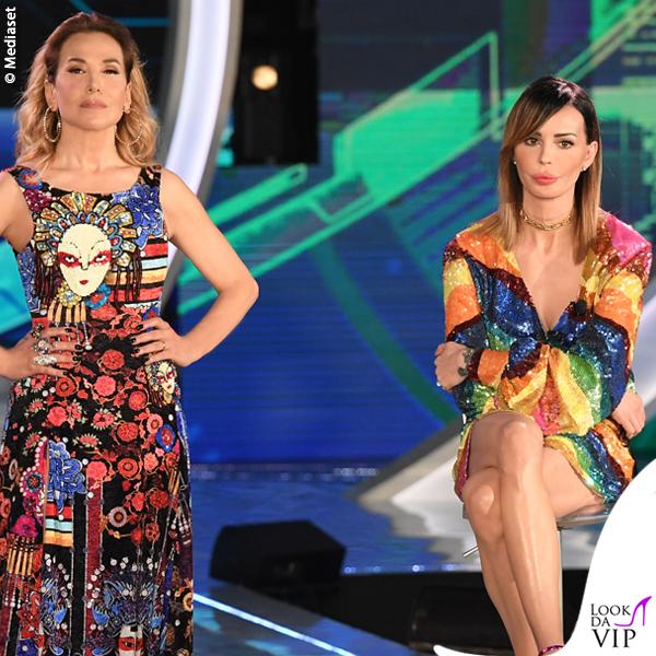 Nina Moric Grande Fratello sesta puntata minidress Attico scarpe Giuseppe Zanotti design Barbara d'Urso abito Filippo Laterza