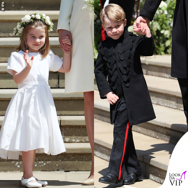 Royal Wedding principessa Charlotte abito scarpe Givenchy principe George redingote Blues e Royal