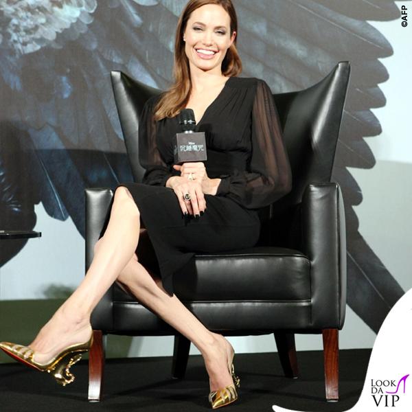 Angelina Jolie Maleficent scarpe Christian Louboutin 2