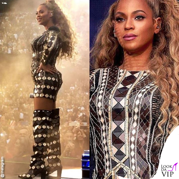 Beyonce On The Run II World Tour toal outfit Balmain 1