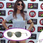 Bianca Atzei, occhiali da sole Ray Ban