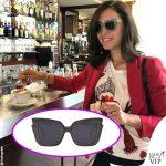 Caterina Balivo occhiali da sole Georges Brand