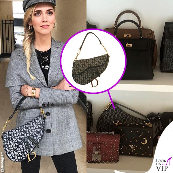 Chiara Ferragni borsa Dior Saddle
