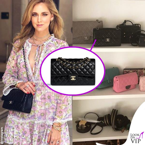 Chiara Ferragni borsa Timeless nera Chanel