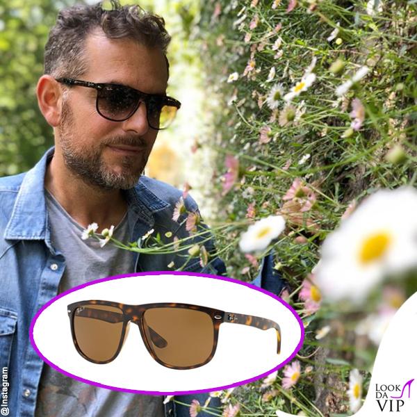 Daniele Bossari occhiali da sole Ray Ban