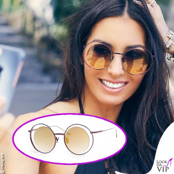 Elisabetta Gregoraci occhiali da sole Les Pieces Uniques