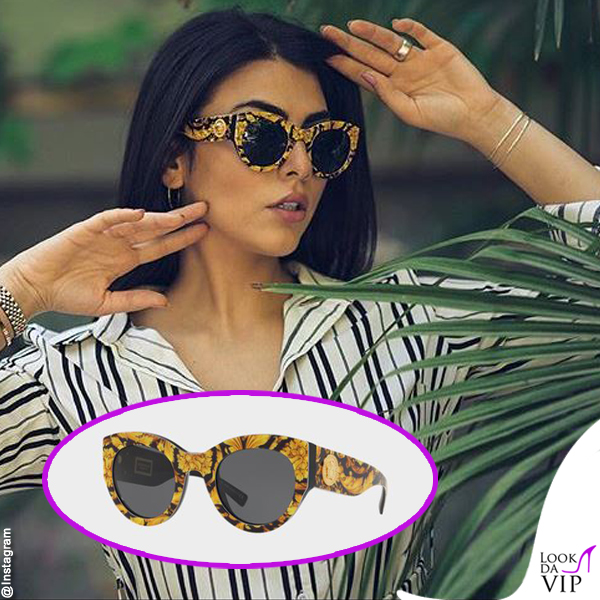 Giulia Salemi occhiali da sole Versace