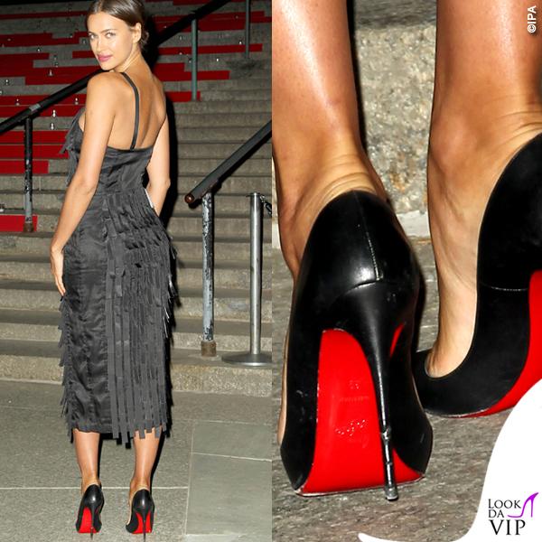 Irina Shayk scarpe tacchi Christian Louboutin 2015