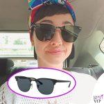 Lodovica Comello occhiali da sole Ray Ban