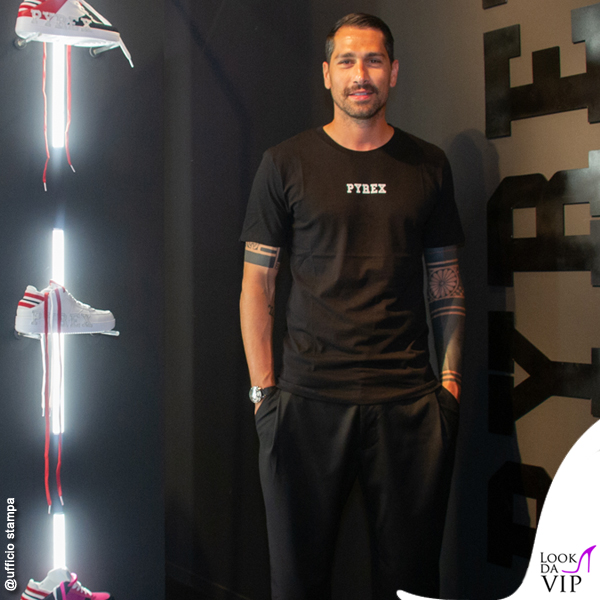 Marco Borriello Pitti 2018 total look Pirex