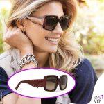 Martina Colombari occhiali da sole Tod's
