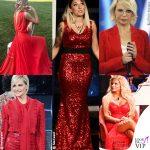 L'abito da sera delle vip? Rosso passione
