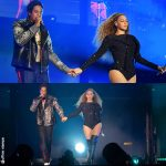 On The Run II World Tour Beyonce total look Givenchy JayZ Dubbo Jacket Les Benjamins