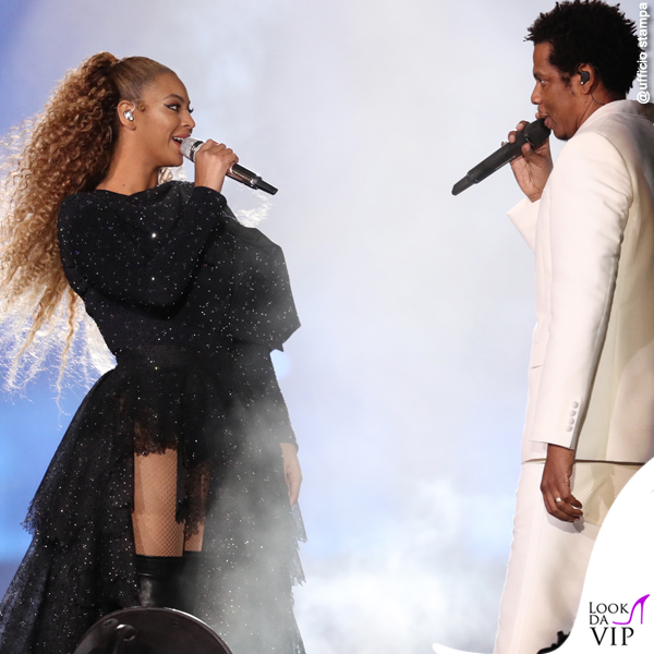 On The Run II World Tour Jay-Z completo Givenchy scarpe Puma Beyoncé total outfit Givenchy