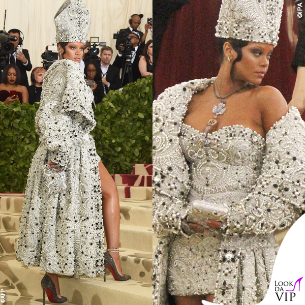 Rihanna Met Gala 2018 abito John Galliano scarpe Christian Louboutin