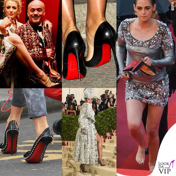 scarpe tacchi Christian Louboutin Blake Lively Kristen Stewart Rihanna suola rossa