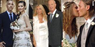 Anniversari nozze vip Ramazzotti Carraro Totti Icardi Montolivo Bocci