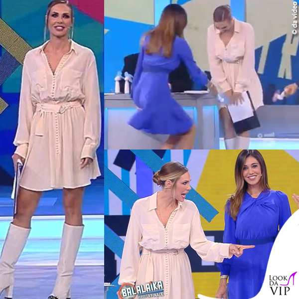 Balalaika Ilary Blasi abito Dondup scarpe Le Silla Belen Rodriguez abito Tara Jarmon