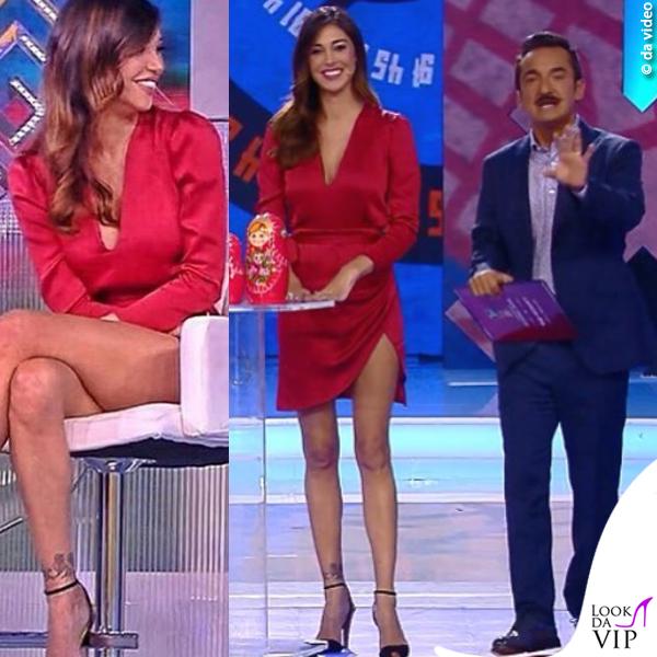3679aa21fd39 Balalaika puntata 3 Belen Rodriguez abito Tara Jarmon 1 - Look da Vip
