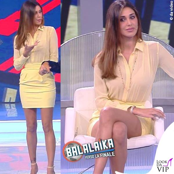 0d59a3f9df0f Balalaika puntata 6 Belen Rodriguez total look Elisabetta Franchi 8 ...