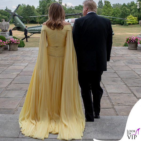 Donald Trump Melania Trump abito J. Mendel