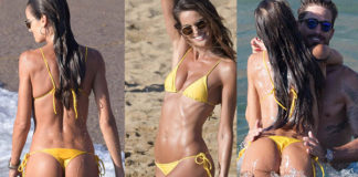 Izabel Goulart bikini giallo Lenny Niemeyer