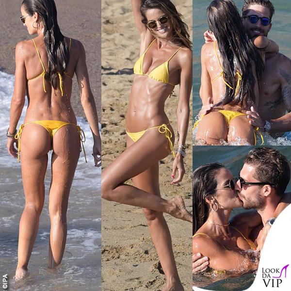 Izabel Goulart bikini giallo Lenny Niemeyer Kevin Trapp costume Vilebrequin 0