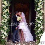 Matrimonio Alessia Marcuzzi Paolo Calabresi Marconi Londra abito Gianbattista Valli scarpe Jimmy Choo