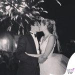 Matrimonio Bernardo Corradi Elena Santarelli abito Alberta Ferretti