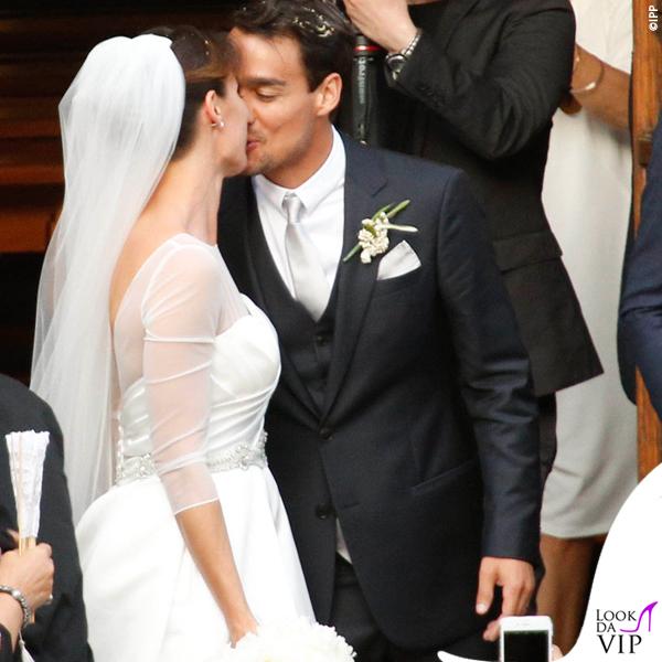 Matrimonio Flavia Pennetta e Fabio Fognini abito Atelier Emè fedi Damiani