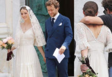 Matrimonio Francesco Carrozzini Bee Shaffer abito Dolce & Gabbana Portofino