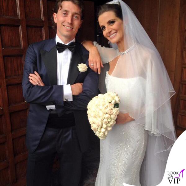 Matrimonio Riccardo Montolivo Cristina De Pin abito Roberto Cavalli