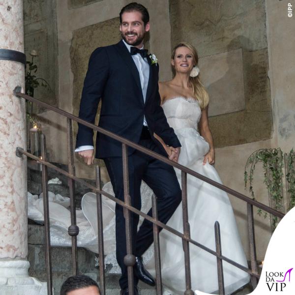 Matrimonio Tomaso Trussardi abito Trussardi Michelle Hunziker abito Antonio Riva 4