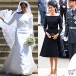 Meghan Markle abito da sposa Givenchy abito nero Dior